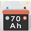 Free item: 70 Ah (70 Amperes) battery