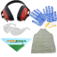 Free protection kit: gloves, goggles, ear muffs, Agrieuro headscarf, apron!