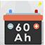 Free item: 60 Ah (60 Amperes) battery